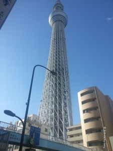 Le Tokyo Skytree, 634m.  Les séismes? Même pas peur.